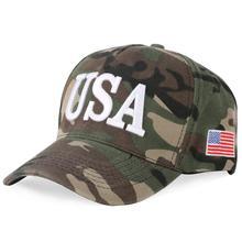 Baseball Cap Camouflage American Flags USA Embroidery LetterGorras Snapback SunhatCasquetteAdjustableTrucker HatChapeu Hats