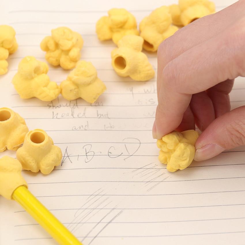 1 pz Hot Kawaii Popcorn Confezione in gomma Gomme per modellare Materiale scolastico Panino Rosa Blu Nero Dessert Stile Gomma Giallo
