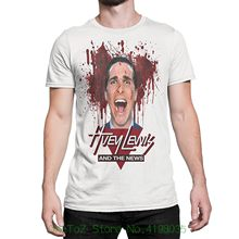 American Psycho Huey Lewis And The News Shirt Summer Short Sleeves Fashion T Shirt Free Shipping(China)