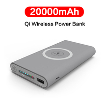20000mAh Qi Wireless Charger Power Bank External Battery Pac