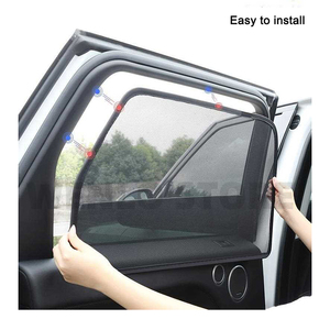 Image 4 - WENLO 4Pcs Car Side Window Sunshade For Land Rover Discovery 3 4 5 Evoque Range rover Sport Freelander 2 car curtain