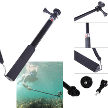 Trípode monopié impermeable telescópico para Gopro Stick palo extensible palo Selfie Handheld Sophie Sticks con soporte para GoPro Hero 3