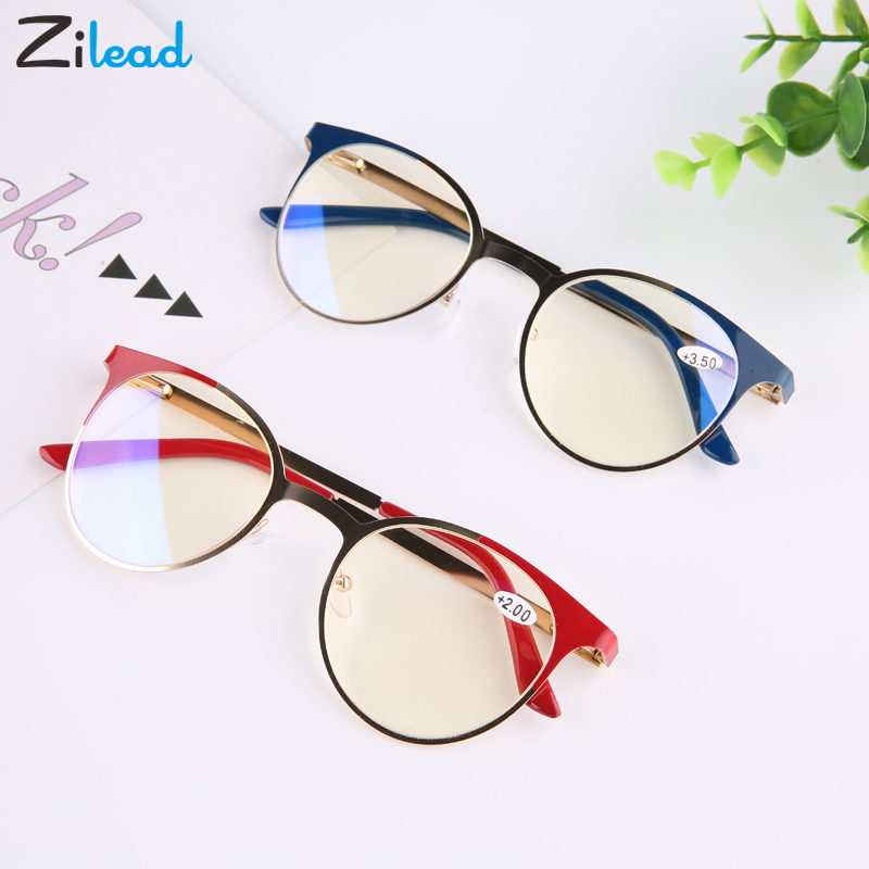 Zilead Reading Glasses Men Anti Blue Rays Presbyopia Eyeglasses Antifatigue Women Eyewear With +1.5 +2.0 +2.5 +3.0 +3.5 +4.0