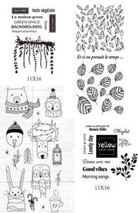 Stamp-Sheets Clear Scrapbooking/album-Decorative French for DIY A161