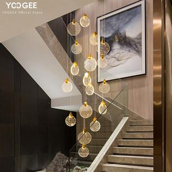 YOOGEE Modern Chandeliers LED Chandelier Loft for Kitchen dining room Crystal  Indoor Lighting Stair Cristal Lamp люстра