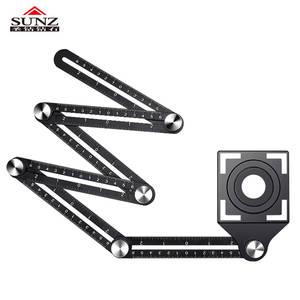 Ruler Measuring-Tool Positioner Hole Multi-Function Ceramic Adjustable Aluminum-Alloy