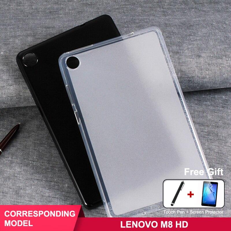 For Lenovo Tab M8 HD Case TPU For Lenovo Tab M8 TB-8505F TB-8505X TB-8505I 8.0 Inch Tablet Case+Film+Pen