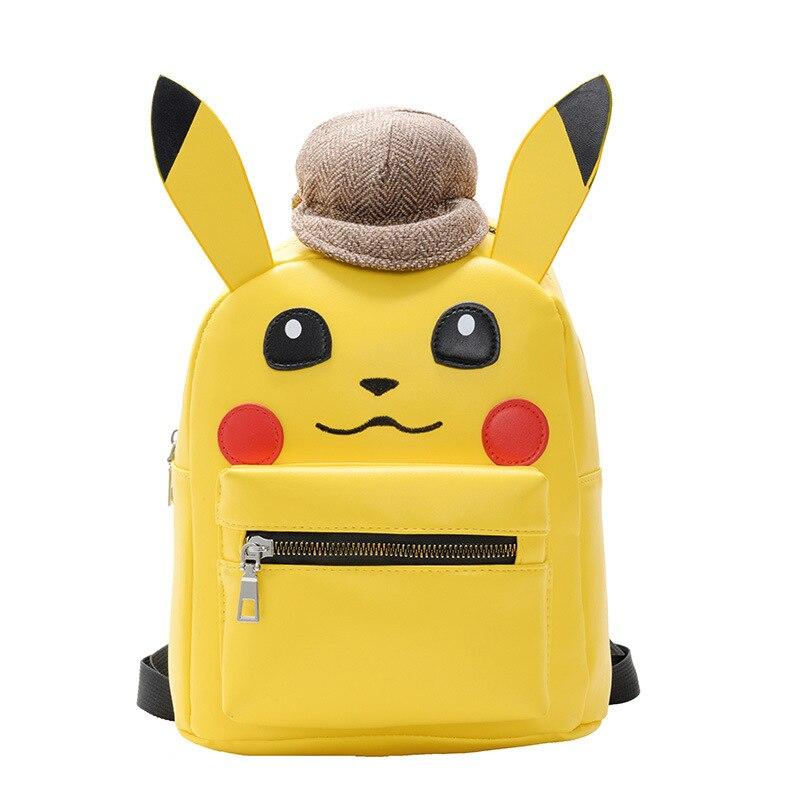 Детский школьный ранец с героями аниме «Покемон го», желтый рюкзак из полиуретана с изображением Пикачу для детей и мальчиков, милые сумки