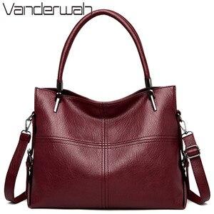 Image 1 - 럭셔리 여성 핸드백 대용량 토트 백 디자이너 정품 가죽 숙녀 핸드 가방 캐주얼 Crossbody 가방 여성 2020