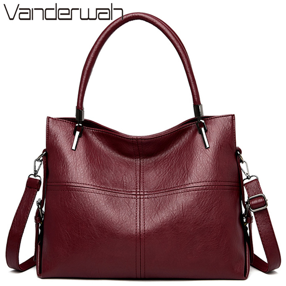 Luxury Brand Women Handbags Large Capacity Tote Bag Designer Soft Leather Ladies Hand Bags Casual Crossbody Bags For Women 2019