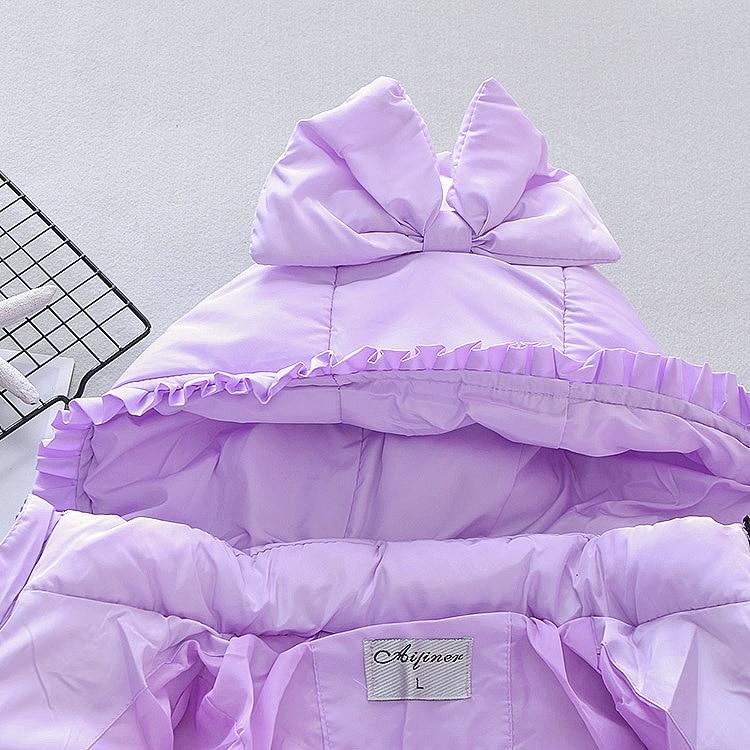 Moda outono inverno crianças menina jaqueta de