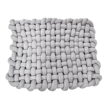 Space Knot Baby Sleeping Mat,Soft Cotton Square Nursery Rug,Nursery Room Decor for Infant Toddler and Children,Grey