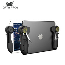 Data Frog Six Finger Pubg Joystick For Ipad Tablet Mobile Phone Game Controller Handle Aim Button L1R1 Shooter Gamepad Trigger