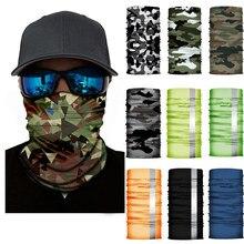 3D Buffs Bandana Gaiter Pescoço Camouflage Sólida Headband Ciclismo Pesca Máscara Balaclava Lenço Ao Ar Livre Multifuncional Headwear
