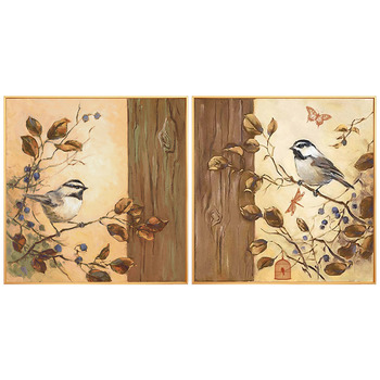 Hand-painted Birds And Flowers Decorative Painting The Living Room Entrance Hallway Wall Mural Lucky House Restaurant Bedroom Be