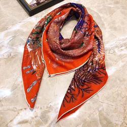 2019 new arrival  winter autumn tree colorful 70% cashmere 30% silk scarf 140*140 cm big warm shawl wrap for women lady girl