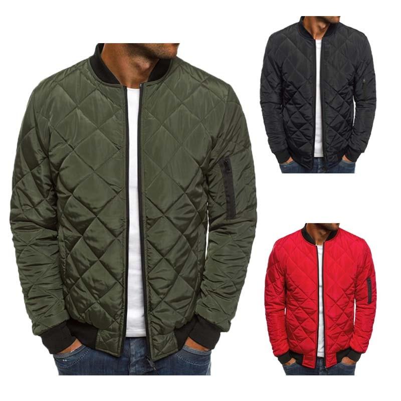 OLOME 5 Style Mens Warm Coats Streetwear Winter Jackets Lightweight Windproof Packable Jacket Baseball Coat Outwear For Men