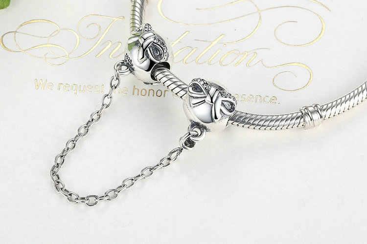 קלאסי 925 סטרלינג כסף 9 סוגים בטיחות שרשרת fit מקורי פנדורה צמידי נשים תכשיטי DIY