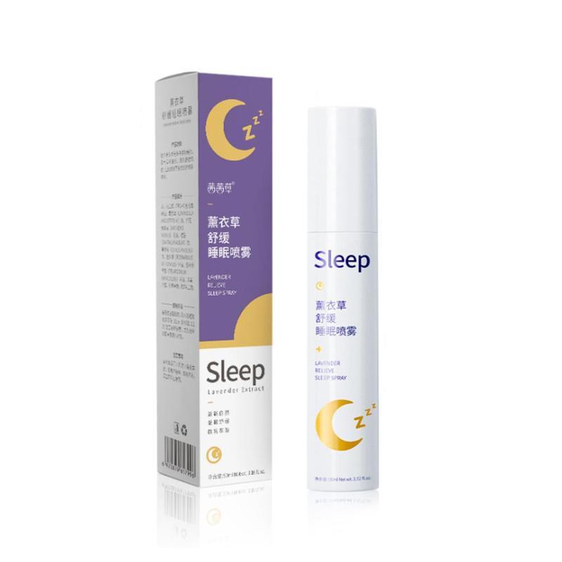 90ml Lavender Deep Sleep Pillow Spray Insomnia Hemp Seed Extract Essential Oil Relieve Stress Anxiety Help Sleep Fresh Spray
