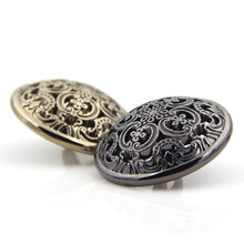 100pcs fashion Palace Style hollow metal buttons overcoat sewing alloy jeans buttons for clothes jeans buttons fashion alloy buttons embellished military hat for men