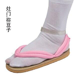Image 4 - Anime Cosplay Kamado Nezuko Geta takunya iblis avcısı Kimetsu hiçbir Yaiba sandalet ayakkabı Kamado Tanjirou Agatsuma Zenitsu Flip flop