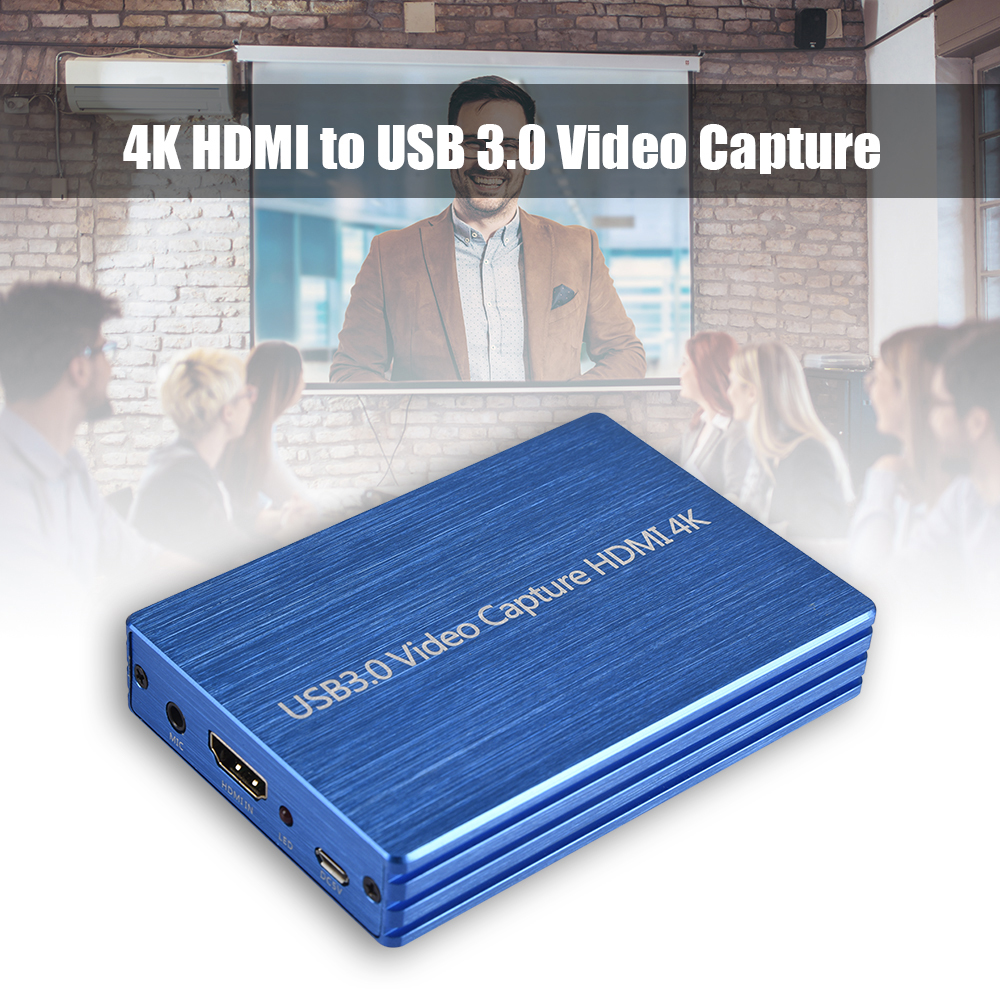 4K HDMI Video Capture USB 3.0 Video Capture HDMI To USB 1080P 60fps HD Video Recorder For Game Streaming Live Stream Broadcast