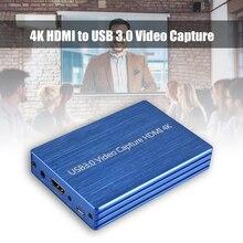 Grabador de vídeo 4K captura de vídeo HDMI, USB 3,0, HDMI a USB 1080P, 60fps, HD, para transmisión en vivo de juegos