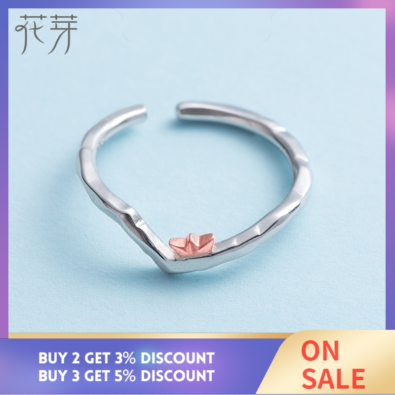 Thaya To Ride the Winds and Break The Waves Design Finger Ring Rose Gold s925 Silver Handmade Jewelery for Women Gift in Rings from Jewelry Accessories