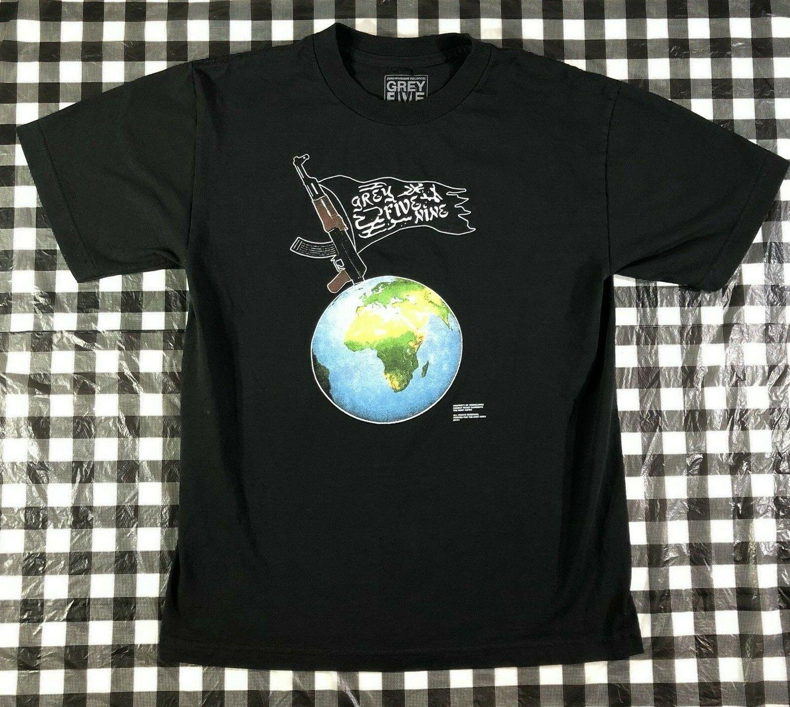 G59 Suicideboys Ak47 Arabic Flag World Black T Shirt Size M Short Sleeves Tee