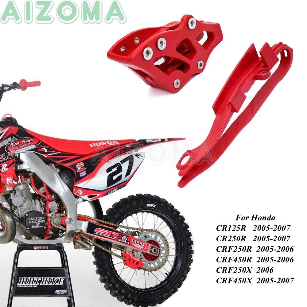 Kir yarış bisikleti arka Swingarm zincir Slider kapak w/zincir kılavuzu Guard Honda CR125R CR250R CRF250R CRF250X CRF450R CRF450X