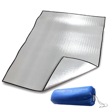 Portable Double Sided aluminum Picnic Pad Outdoor Camping Shading Insulation Mat Foldable Moisture Proof Mattress high quality multiplayerpvc aluminum film moisture pad 2 2m side tent moisture pad picnic mat sleeping pad