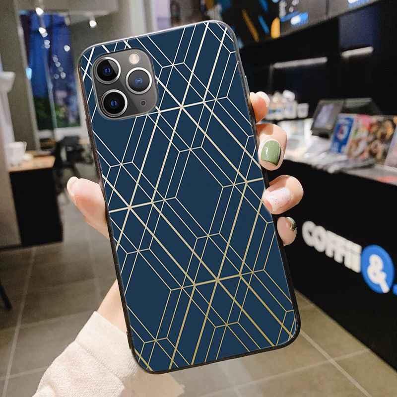 جراب هاتف باللون الذهبي الوردي من تي بي يو لين للهاتف حقيبة لهاتف أي فون 11 برو XS MAX 8 7 6 6S Plus X 5 5s SE XR