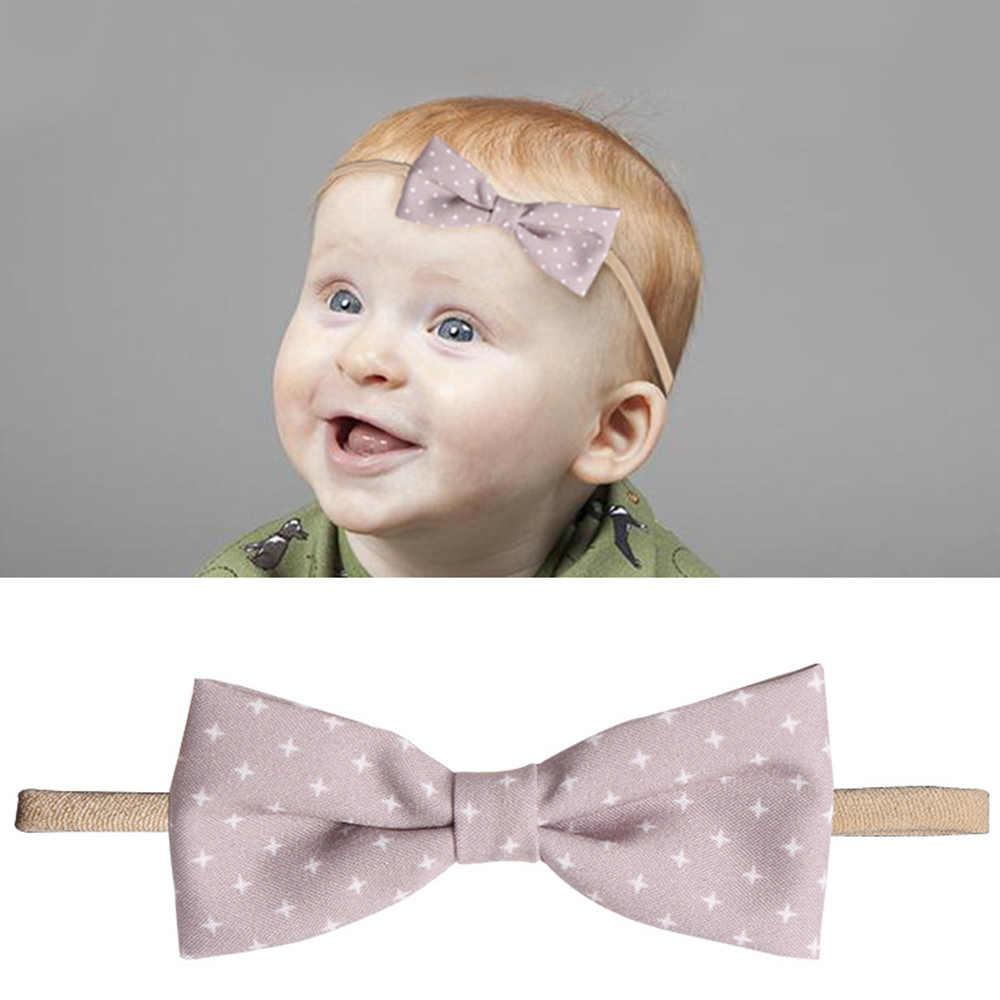 1 قطعة متعددة أنماط 10 الألوان الطفل Bownot زهرة عقال القماش رباط شعر أغطية الرأس إكسسوارات الشعر