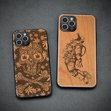 Carveit עץ מקרים עבור iPhone 12 פרו מקס מיני 12Pro 12ProMax אמיתי דובדבן עץ מעטפת יוקרה כיסוי דק אקו אבזר טלפון גוף