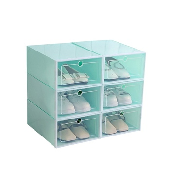 Foldable Shoe Box Organizer for Easy Storage of Shoes with Drawers