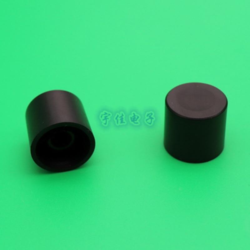 10 pièces 18.5*17mm bouton en plastique noir demi poignée en forme de D trou intérieur 6mm potentiomètre bouton de réglage