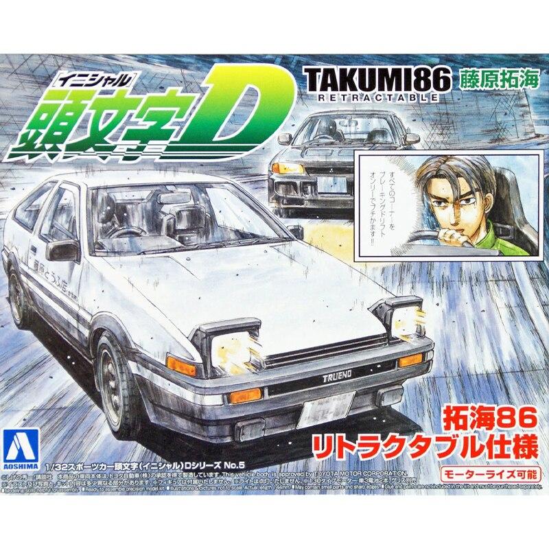 Assembly Car Model 1/32 Initial D DTAKUMI86 AE86 00900