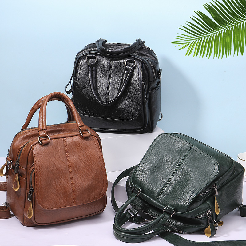 2019 New Fashion Trend Women's Backpacks High Quality Leather Thief Resistant Multi-functional Backpacks
