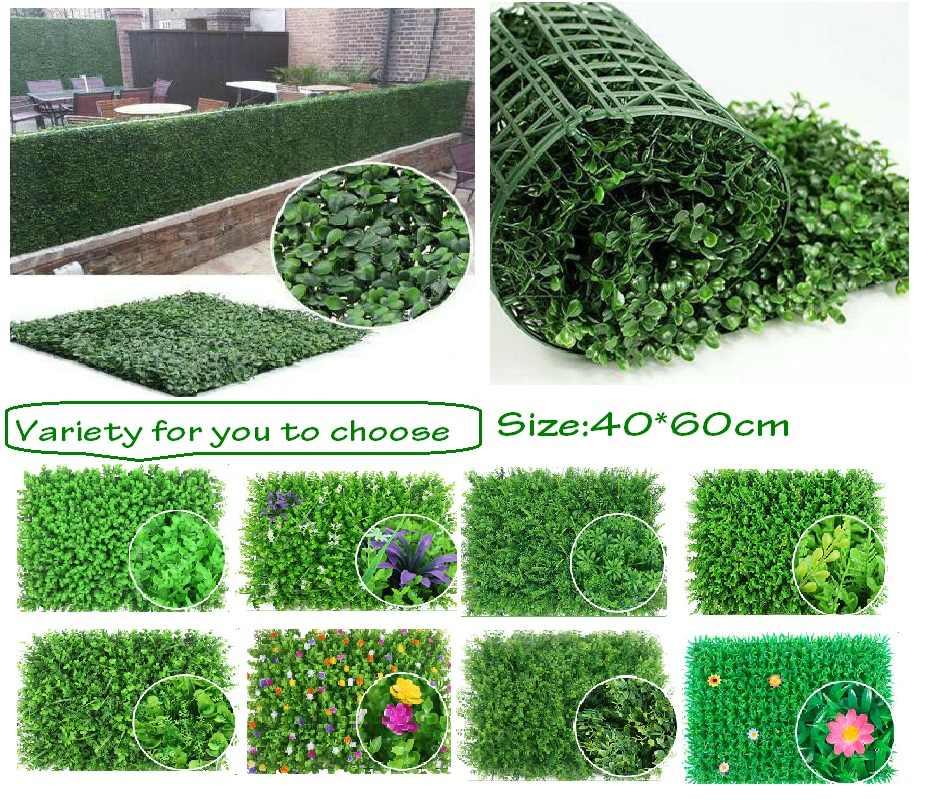 Artificielle plante Simulation plante verte pelouses tapis pour jardin mur aménagement paysager vert plastique pelouse artificielle mur maison Decorat