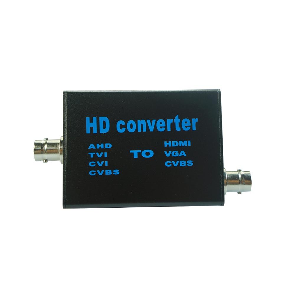 Analog Signal TVI AHD CVI TO HDMI VGA CVBS Digital Video Converter TV Full HD 1080p For Security Monitoring NTSC/PAL