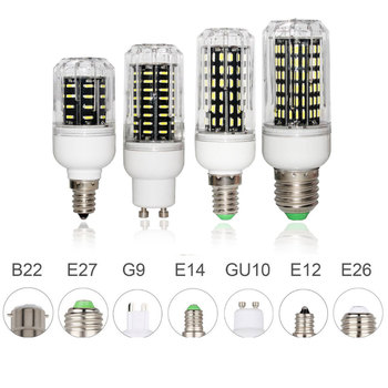 E27 E14 LED Corn Bulb Lamp 4014 SMD Light 10W 20W 25W 30W Lighting 36 72 96 138LEDs Ampoule Led Spotlight Replace Halogen Lamps image