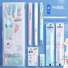 M & G Kawaii 8 sztuk/partia Fantasy Ice Gel Pen piśmienne zestaw zawiera PP box długopis żelowy ołówek gumka Refill śliczny prezent stacjonarne szkoła