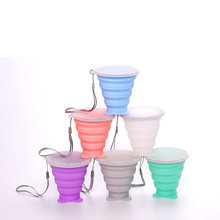 Foldable Cup Travel Portable Outdoor Mouth Cup Multifunction Creative Cartoon Retractable Cup Silicone Folding Cup portable viscosity cup 4 zahn cup
