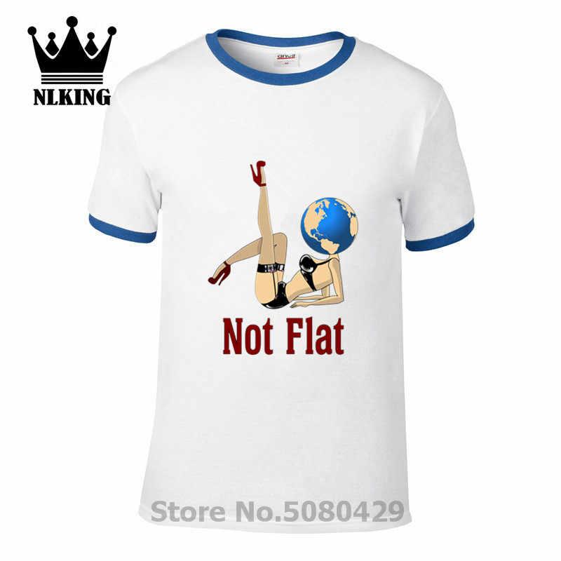 Flat Earth สั้น Globe ผ้าฝ้าย Hoax แขน Conspiracy t เสื้อผู้ชาย space Illuminati เสื้อวิทยาศาสตร์ Tees planet ไม่แบนเสื้อยืดใหม่