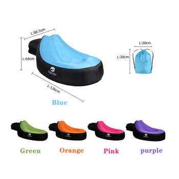 Portable Inflatable sofa Lounger Air Sofa Water Proof Anti-Air Leaking Garden Furniture Inflatable Chair for Home Beach Camping