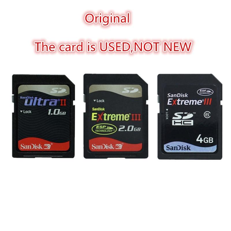 100% Original SanDisk ULTRA II SD Card 1GB EXTREME III 2GB 4GB SD SDHC Memory Card