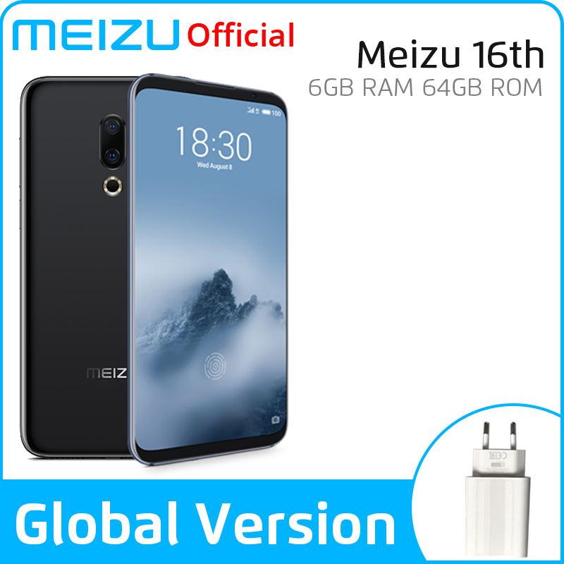 Meizu 16th 16TH 6GB 64GB Global Version Mobile Phone Snapdragon 845 Octa Core 16 Th Smart Phone Front 20MP In-Screen Fingerprint