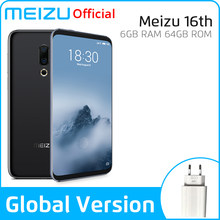 Meizu 16th 16TH 6GB 64GB Global Version Mobile Phone Snapdragon 845 Octa Core 16 th Smart Phone Front 20MP In-Screen Fingerprint(China)