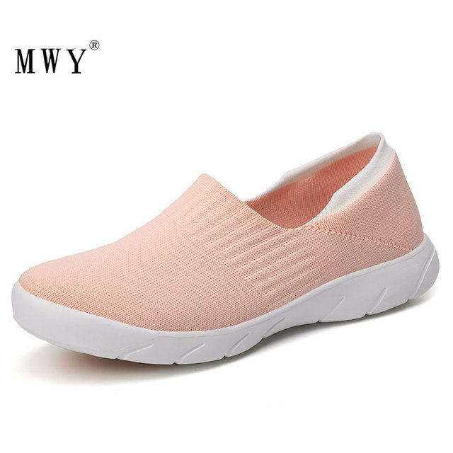 Mwy flats shoes 여성 소프트 경량 양말 운동화 dames schoenen 캐주얼 여성 로퍼 야외 운동화 트레이너