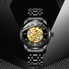 лучшая цена HAIQIN 2019 new men's watches automatic mechanical skeleton watch men wristwatch mens top brand luxury watch men montre homme